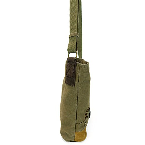 Chala LaZzy Cat Patch Canvas Cotton Messenger Bags with 6 Color Options (Olive) by CHALA (Image #4)