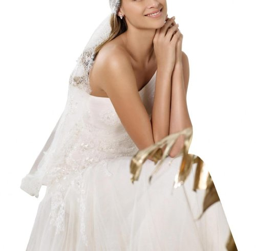 auf Applikationen der ausfuehrlich Hochzeitskleid Rueckseite GEORGE Brautkleider Weiß Hochzeitskleider Zarte aermel Sexy Arthemden BRIDE zwfnqIZA