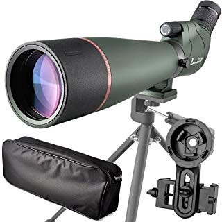 20-60X 80 Prism Spotting Scope- Waterproof Scope for Birdwatching Target Shooting Archery Outdoor Activities -with Tripod & Digiscoping Adapter-Get The Beauty into Screen (20-60x80 Spotting Scope)