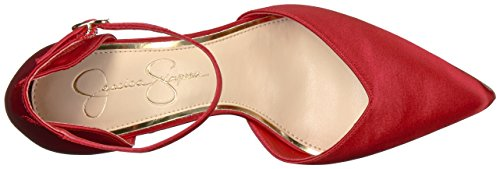 Satin Simpson para Jessica Fancy Mousse Red mujer Pump Cirrus WO0YnwUBq