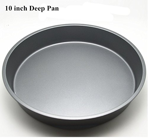 Fangfang Nonstick Deep Pizza Pan Pizza Tray Evenly Bakes Heat (10 Inch)