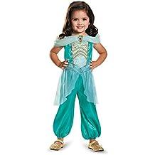 Disguise Jasmine Toddler Classic Costume, Medium (3T-4T)