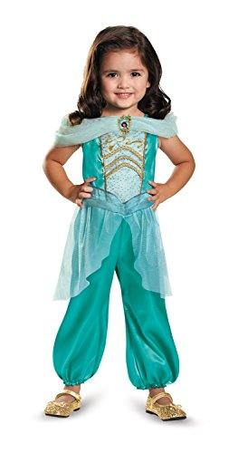 Princess Jasmine Costumes Girls (Disguise Jasmine Toddler Classic Costume, Medium (3T-4T))