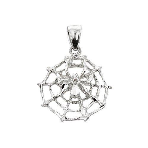 10 ct 471/1000 Or Blanc Spinnennetz Pendentif
