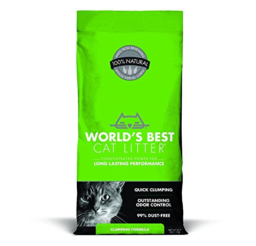 41FuydRPE%2BL - World's Best Cat Litter, Clumping Litter Formula, 28-Pounds