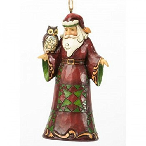 Jim Shore Department Store Series Holiday Ornament – Santa w Owl