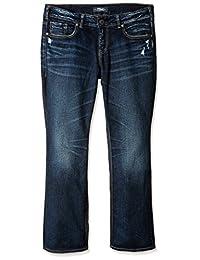 Silver Jeans womens plus-size Plus Size Elyse Mid-rise Slim Bootcut Jeans