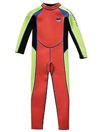 Gogokids Kids Wetsuit - Boys Girls Rash Guard One Piece Neoprene Swimsuits