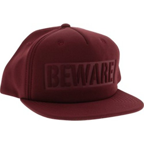 Grizzly Grip Tape Beware Burgundy Snapback Hat - Adjustable