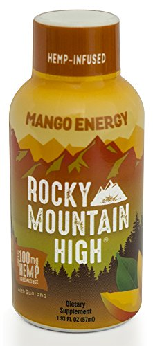 1 Carton Of Rocky Mountian High Hemp Infused Mango Energy Shot 1 93 Fl Oz