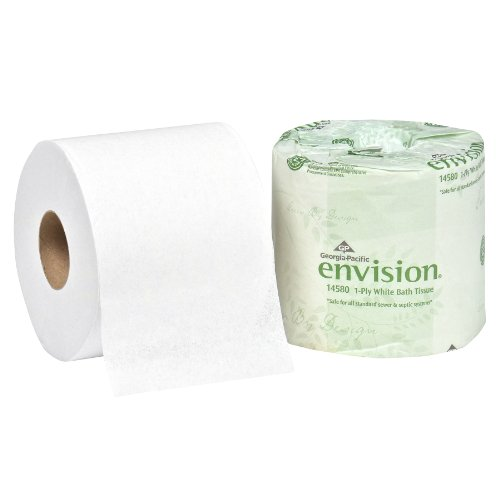 "UPC 073310145808, Georgia-Pacific Envision 14580/01 White 1-Ply Bathroom Tissue, 4.05"" Length x 4"" Width (Case of 80 Rolls)"