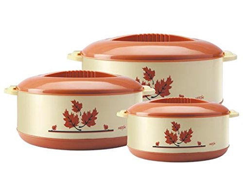 Milton Orchid Insulated Casserole Jr Gift Set of 3, (Light brown)