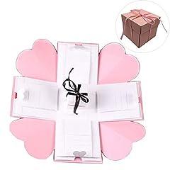Product Description:                      Material: paper               Folded Size: 16*16cm/6.2*6.2inch               Open Size: 45*45cm/17.7*17.7inch               Inside Box Size: 7*7cm/2.8*2.8inch               ❤❤Bring a D...