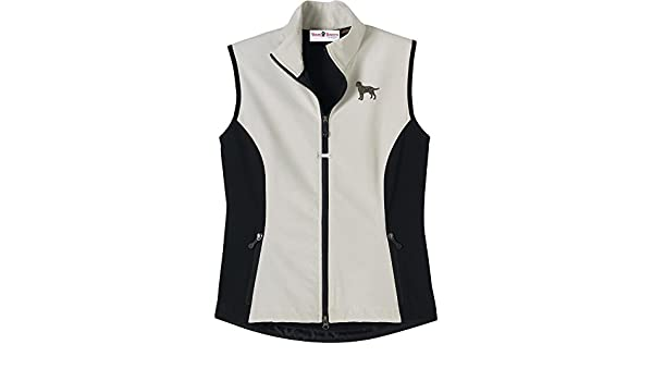 Labrador Chocolate Mens High Tec Vest Bone Zipper Pull