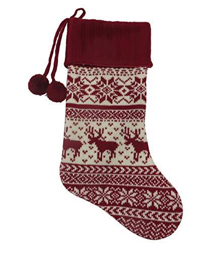 Fair Isle Knit Christmas Stocking - 19