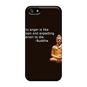 Fashion Protective Quote On Anger By Buddha Cases Covers For Iphone 5/5s