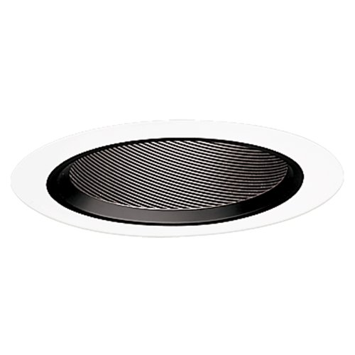 Ic White Baffle Sloped Trim - Halo Recessed 498P 6-Inch Baffle Slope Ceiling Trim with Black Coilex