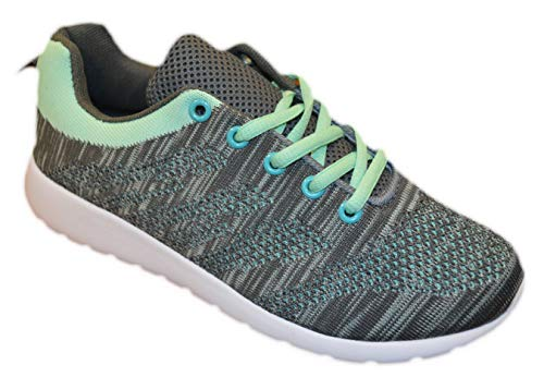 - Womens Sneakers Athletic Knit Mesh Running Light Weight Walking Casual Comfort Running Shoes Breathable (8, Mint with Memory Foam Insole)