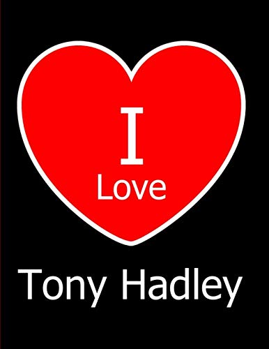 I Love Tony Hadley: Large Black Notebook/Journal for for sale  Delivered anywhere in USA