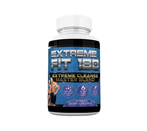 Extreme Fit 180-Extreme Cleanse Master Blend- Flush Excess Waste And Toxins- Increase Nutrient Absorption- Promote Weight Loss -100% Natural Key Ingredients (60 Capsules) from Extreme Fit 180