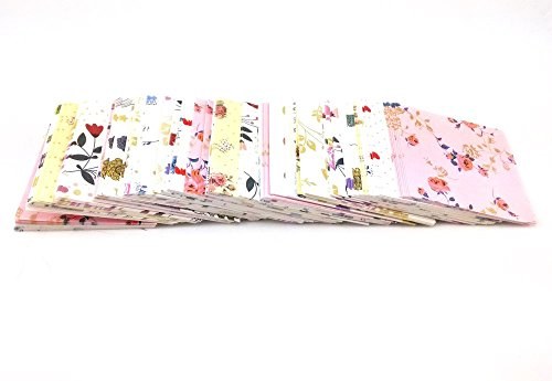Floral Origami - Honbay 350 Sheets Colorful Glitter Mix Floral Pattern Origami Paper 5 x 5cm