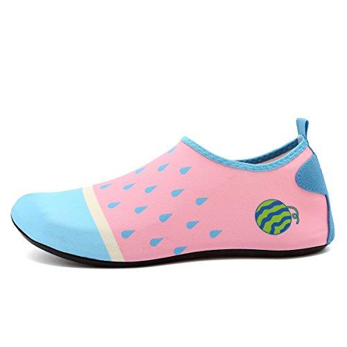 Cior Menn Og Kvinner Barfot Hud Aqua Sko Anti-skli Multifunksjonelle Vann Sko Til Strand Basseng Surfe Yoga Trening Pink002