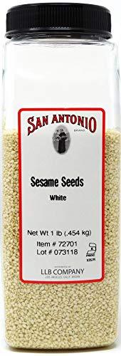 Premium White Sesame Seeds, 16 Ounce, Whole, Hulled, Bulk Size