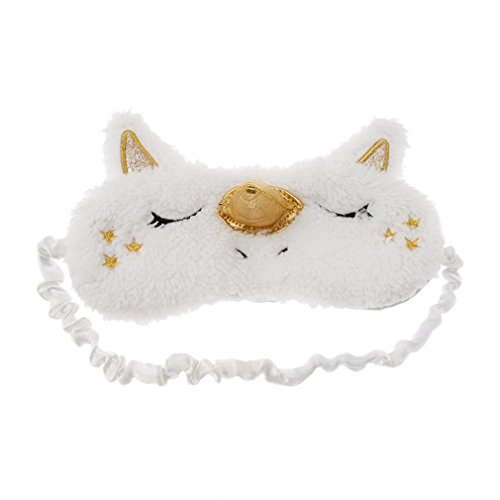 HENGSONG Cute Unicorn Eye Blinder Winker Mask Eyeshade Sleeping Mask Blindfold Cover Women Girls (Gold)
