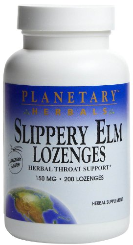 Slippery Elm Lozenges Tangerine Planetary Herbals 200 Lozenge