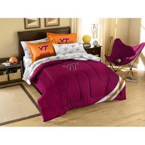 Virginia Tech Twin Comforter - The Northwest Company NCAA Boise State Broncos Full Bedding Set.