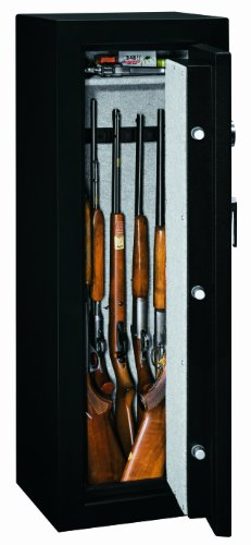 Stack-On-FS-8-MB-E-8-Gun-Fire-Resistant-Safe-with-Electronic-Lock-Matte-Black