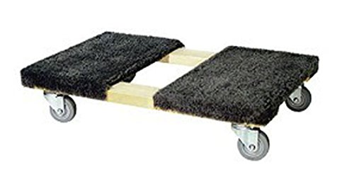 "Furniture Office Duluxe Moving Dolly Carpeted 900 LB Capacity Non Marring 3.5"" Colson Wheels NEW from Made In The USA"