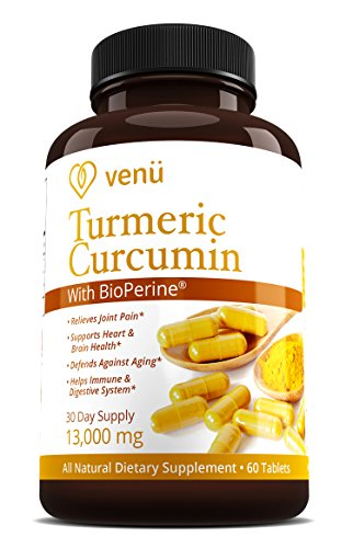 Organic Turmeric Curcumin with Bioperine – 60 Veggie Capsules [650mg] – Premium Dietary Supplement for Healthy Joints, Immune Support & Youthful Skin