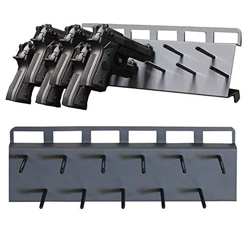 Secure It Gun Storage Pistol Peg Rack: 11 Capacity - Great Handgun Rack for Your Gun Safe Display, Perfect Wall Mount Organization and Barrel Rest