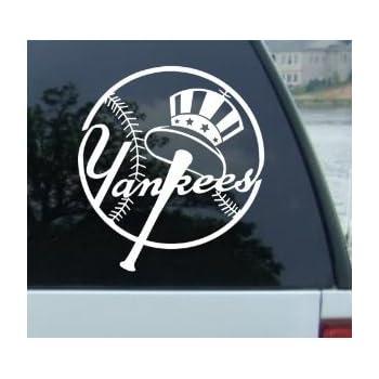 Amazon.com: NEW YORK YANKEES LOGO MLB WHITE DECAL VINYL
