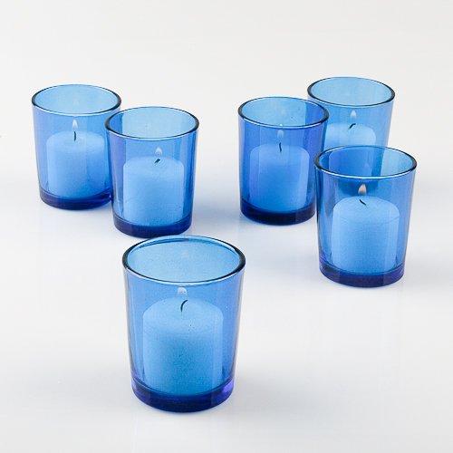 (Eastland Blue Glass Votive Holders Set of)