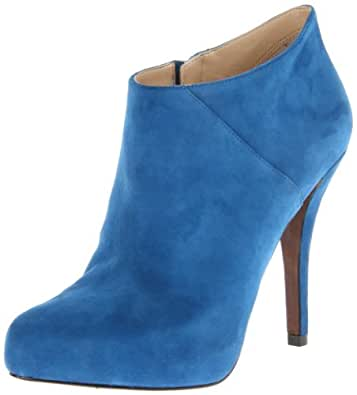Enzo Angiolini Women's Yilin Ankle Boot,Blue Suede,5 M US