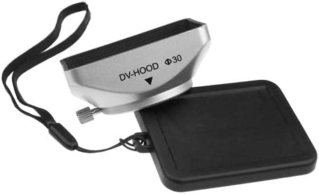 Mennon DV-b 30 30mm Digital Video Camcorder Lens Hood with Thumb Lock Mount Silver