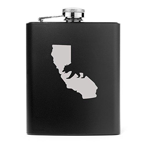 爆買い! 7オンスステンレススチールヒップフラスコCali ブラック Bear California ブラック ブラック ブラック Bear B013F437WU, musassabiz:772a620c --- vrpawar.in