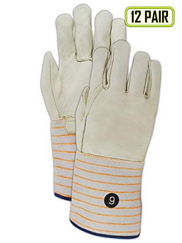 Magid Glove & Safety T6570G-10 Magid DuraMaster T6570G Unlined Standard Cow Grain Full Leather, X-Large, Gold Tan, 10 (Pack of 12)