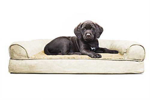 FurHaven Ultra Plush/Velvet Orthopedic Dog Couch Sofa Bed for Dogs and Cats – Available in 7 Colors/Styles
