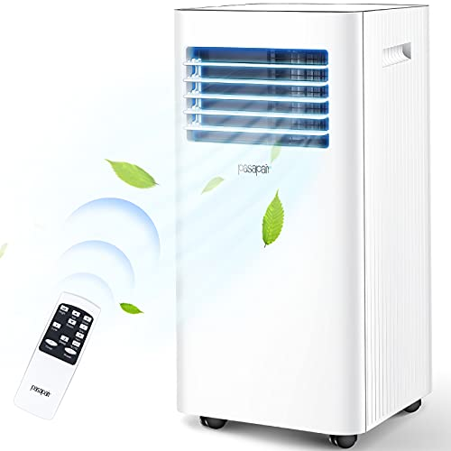Pasapair Portable Air Conditioner/Air Cooler 10000 BTU with Dehumidifier&Fan Mode/Quiet AC unit Cools Rooms to 400 sq.ft,with Remote Control,LED Panel/Timer/Window Mount Exhaust Kit for Home Office