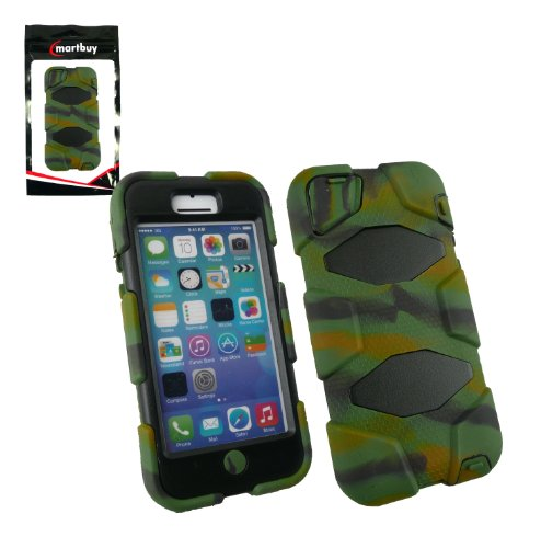 Emartbuy® Apple Iphone 5c Camouflage Auswirkungen Dual-Layer-Schutz Tough Case Cover Tasche Hülle