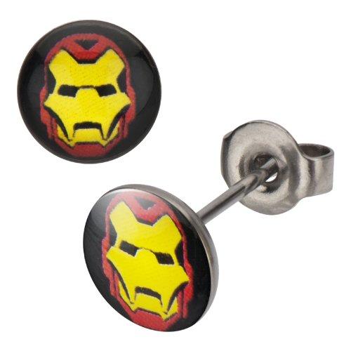 316L,Iron-Man, Stud, Earrings Post Earings Ironman -