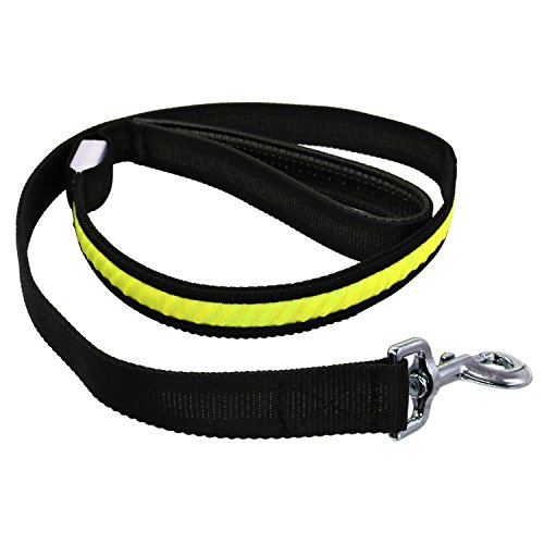 Light White Red Green Yellow Pink Blue RGB 1.2m Pet Walk at Night Pet Rope LED Luminous Suitable for Medium and Small Dogs (1PCS Led (Color : Yellow)]()
