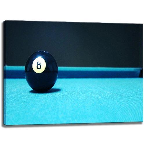 Billar bola 8 Se imaginan sobre lienzo Tamaño: 120x80 cm ...
