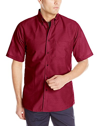 Red Kap Men's RK Poplin Dress Shirt, Burgundy, -