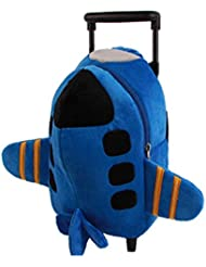 YUB Children School Bags Wheels Backpack in Kindergarten Trolley Bag Toy Airplane