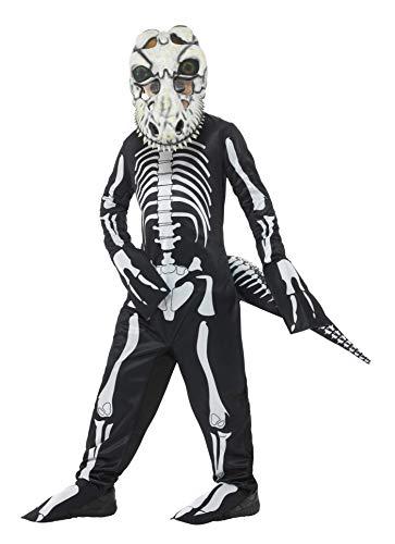 Smiffys Deluxe T-Rex Skeleton Costume, Black, Medium