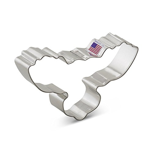 Ann Clark Moose Head Cookie Cutter - 4.5 Inches - Tin Plated Steel